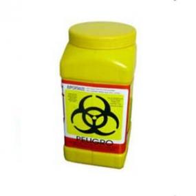 A1 contenedores - Recolector de polipropileno para liquidos color amarillo, capacidad 3.0 Lts