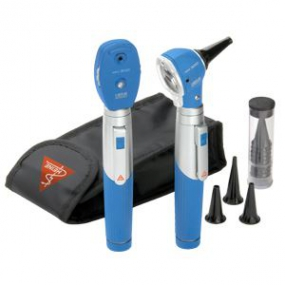 Heine - Estuche de diagnostico con Oftalmoscopio mini3000 y Otoscopio mini3000 estuche suave color azul