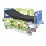 Malvestio - Cama pediátrica eléctrica de tres secciones modelo SMILE con colchón y portasuero