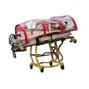 XE Medica - Cápsula de aislamiento con flujo de aire laminar para traslado de paciente