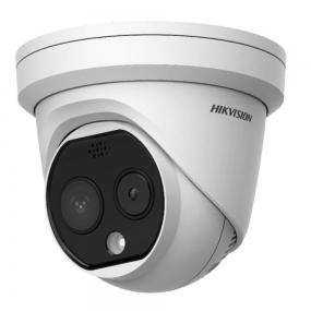 Hikvision - Cámara termografica de medicion de temperatura corporal tipo domo