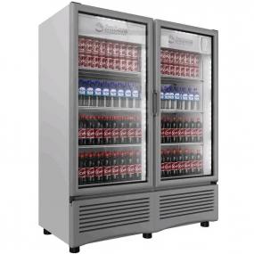 Imbera Beyond Cooling - Refrigerador vertical exhibidor con 2 puertas de cristal VR-35